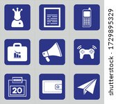 Set Of 9 Icons Such As Comedia...