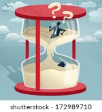 abstract businessman trapped in ... | Shutterstock .eps vector #172989710