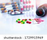 Colorful Tablets And Capsule...
