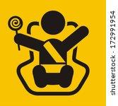 baby chair | Shutterstock .eps vector #172991954