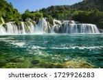 Waterfall In Krka National Park ...