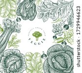 hand drawn sketch vegetables...   Shutterstock .eps vector #1729946623