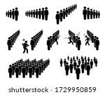 people queue and lining up.... | Shutterstock .eps vector #1729950859