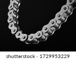 Roller Chain On A Black...