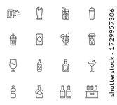 pub beverages line icons set ... | Shutterstock .eps vector #1729957306