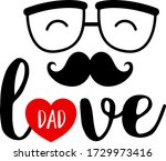 Love Dad Lettering Design With...