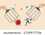 rush to reopen business after... | Shutterstock .eps vector #1729977736