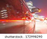 car on the road with motion... | Shutterstock . vector #172998290