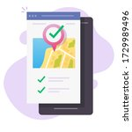 mobile map gps location...   Shutterstock .eps vector #1729989496