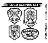 camping and hiking logo design  ... | Shutterstock .eps vector #1730012389