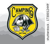 camping and hiking logo design  ... | Shutterstock .eps vector #1730012449