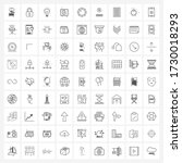 set of 81 ui icons and symbols...