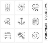 9 universal line icon pixel...