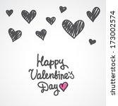 handwrite text  happy valentine'... | Shutterstock . vector #173002574