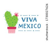 cartoon cactus and lettering... | Shutterstock .eps vector #1730027626