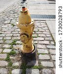 Old And Rusted Yellow Fireplug...