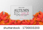 autumn sales banner design with ... | Shutterstock .eps vector #1730033203