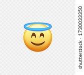 angel emoji. smiling face....   Shutterstock .eps vector #1730033350