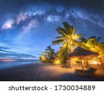 Milky Way Above The Sandy Beach ...