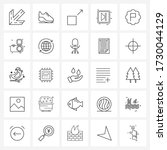 stock vector icon set of 25...