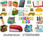 set of school objects...   Shutterstock .eps vector #1730056480