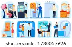people promoting and presenting ... | Shutterstock .eps vector #1730057626