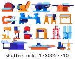 electric machines  factory... | Shutterstock .eps vector #1730057710