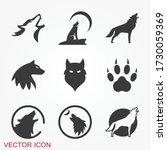 wolf icon. animal symbol...   Shutterstock .eps vector #1730059369