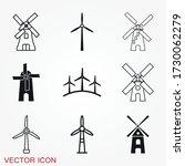 windmill icon  wind turbine...   Shutterstock .eps vector #1730062279