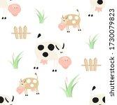 farm seamless pattern   farm... | Shutterstock .eps vector #1730079823