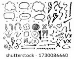 doodle hand drawn collection of ... | Shutterstock .eps vector #1730086660