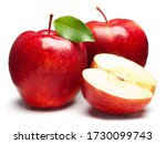 Red apples on white. this file...