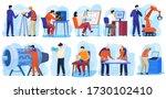 engineering project... | Shutterstock .eps vector #1730102410