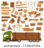 wood logs  timber industry ... | Shutterstock .eps vector #1730102536