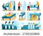 printing process  people in... | Shutterstock .eps vector #1730102800