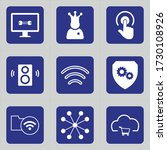 Set Of 9 Icons Such As Tv ...