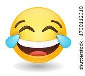 emoji vector art illustration... | Shutterstock .eps vector #1730112310