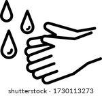 """this is flat icon set of """"hand...   Shutterstock .eps vector #1730113273"""