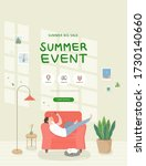 summer shopping event... | Shutterstock .eps vector #1730140660
