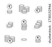 coins icon. gold rupee coins.... | Shutterstock .eps vector #1730152966