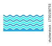 wave icon. sea symbol. ui. web. ...