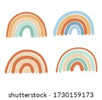 collection of abstract simple... | Shutterstock .eps vector #1730159173