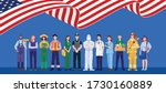 happy labor day. various... | Shutterstock .eps vector #1730160889