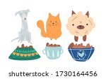 group of cute  adorable and...   Shutterstock .eps vector #1730164456