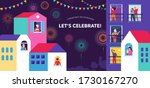 celebration at home with... | Shutterstock .eps vector #1730167270