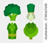 vegetables icons. artichokes ... | Shutterstock .eps vector #1730167630