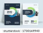 corporate book cover design... | Shutterstock .eps vector #1730169940