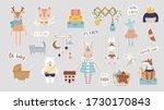 trendy baby and children... | Shutterstock .eps vector #1730170843