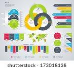 modern infographics set.... | Shutterstock .eps vector #173018138
