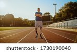 Athletic Disabled Fit Man With...